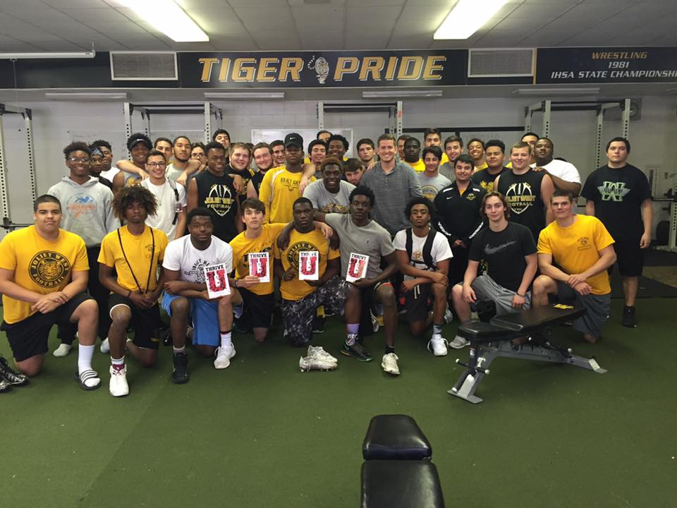 Mizzou football team with Thrive U